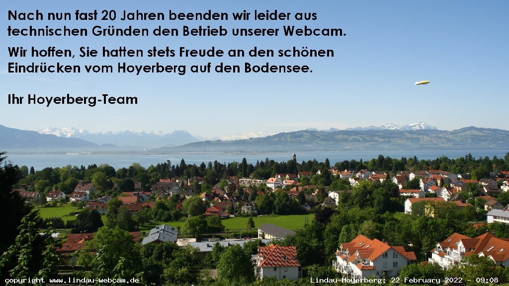 Lindau-Hoyerberg Skyline Panorama and Lake Constance